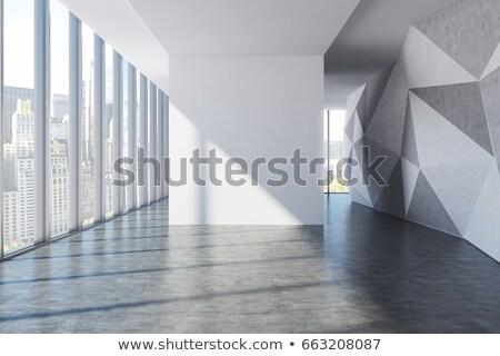 dekore · edilmiş · oda · cam · kapı · ev · pencere - stok fotoğraf © zurijeta