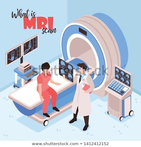 врач · МРТ · сканирование · азиатских · глядя · магнитный - Сток-фото © rastudio