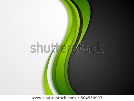 abstract green black grey wavy background stock photo © saicle