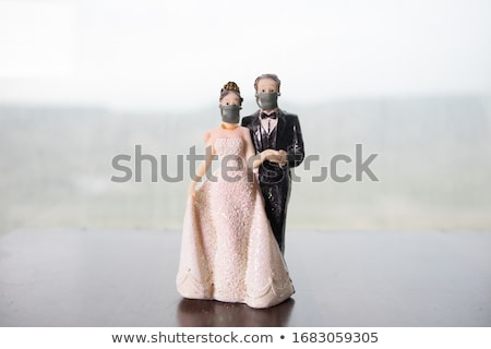 Image of related bride Stock photo © deandrobot
