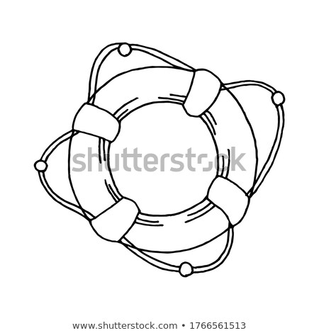 Lifeboat vector illustration clip-art image vessel  Stock photo © vectorworks51