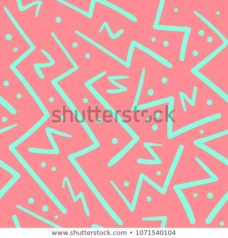 Vector Seamless Black and White Hand Drawn ZigZag Diagonal Stripes Pattern stock photo © CreatorsClub