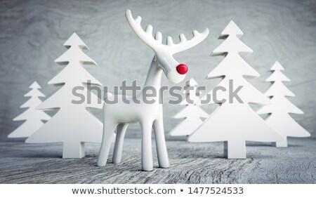 Houten rendier beeldje 3D 3d render illustratie Stockfoto © djmilic