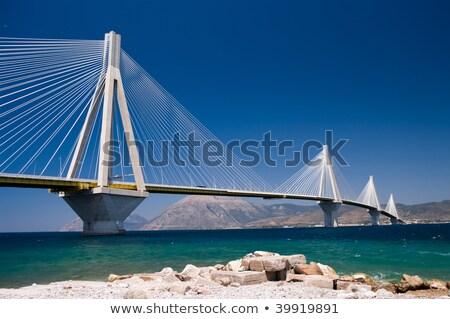 Foto stock: Grécia · um · pontes · suspenso