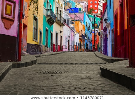 Kiss Alley Colored Houses Guanajuato Mexico Stock photo © billperry