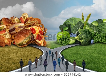 niezdrowej · żywności · wyboru · diety · pytania · diety - zdjęcia stock © lightsource