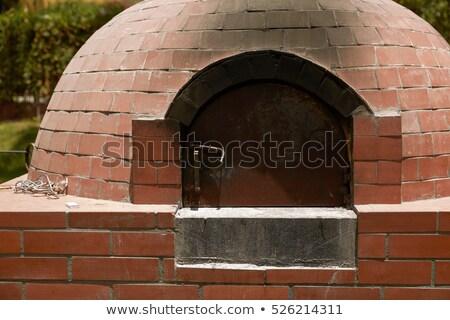 Close Up of Small Rural  DIY Brick Smokehouse Ready for BBQ Stock photo © jirivondrous