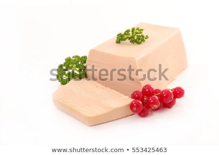 foie gras and redcurrant stock photo © m-studio