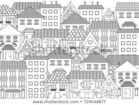 Tiled roof cityscape Stock photo © simply