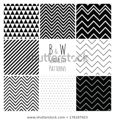 vettore · senza · soluzione · di · continuità · bianco · nero · zig-zag · diagonale · linee - foto d'archivio © samolevsky