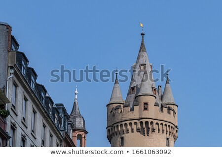 Frankfurt torre edificio nuevos ciudad ciudad Foto stock © meinzahn