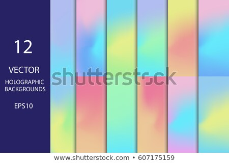 Holografikus szett vibráló színek absztrakt háttér Stock fotó © SArts
