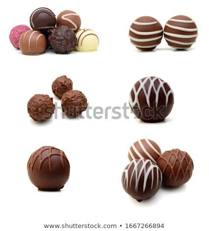Chocolate fruto comida laranja verde grupo Foto stock © Digifoodstock