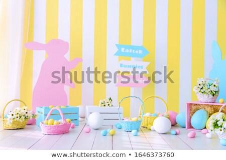 Сток-фото: весны · Пасху · украшение · цветы · пасхальных · яиц · яйца