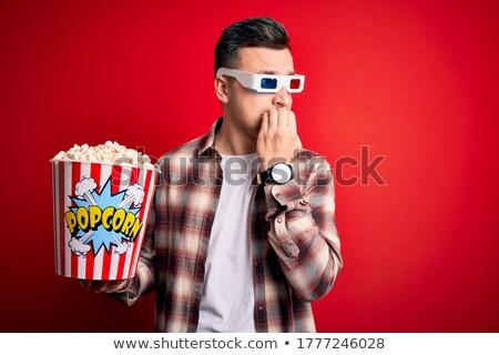 3D portret bezorgd man Stockfoto © Supertrooper
