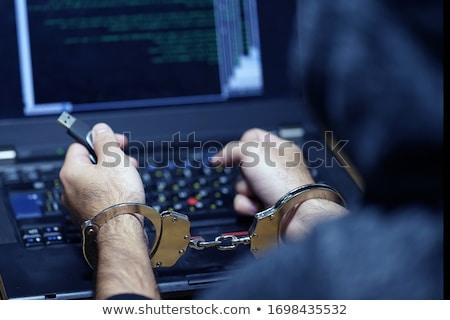 letartóztatva · férfi · megbilincselve · üzlet · kéz · rendőrség - stock fotó © stevanovicigor