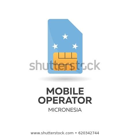 мобильных · оператор · карт · флаг · аннотация · дизайна - Сток-фото © Leo_Edition