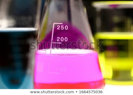 Laboratório artigos de vidro bio orgânico moderno vidro Foto stock © JanPietruszka