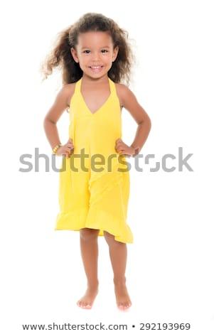 Stock fotó: Lány · kicsi · fekete · ruha · gyönyörű · fiatal · nő · piros · ajkak