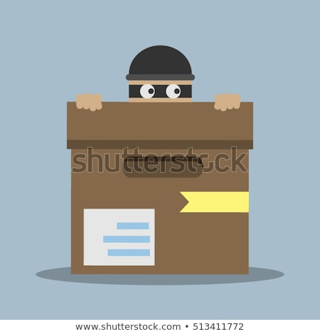 Thief robbed bank, full bag of money Stock photo © studiostoks