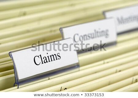File Folder Labeled as Claims. Stock photo © tashatuvango