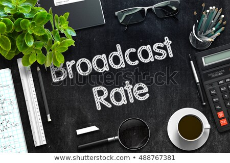 Black Chalkboard with Broadcast Rate. 3D Rendering. Stock photo © tashatuvango