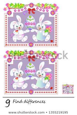 Bulmak farklılıklar Paskalya oyun çocuklar yetişkin Stok fotoğraf © Olena