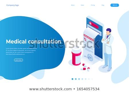 Diagnózis magas vérnyomás orvosi 3d illusztráció elmosódott szöveg Stock fotó © tashatuvango