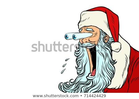 Bulging eyes Hyper reaction to Santa Claus Stock photo © studiostoks