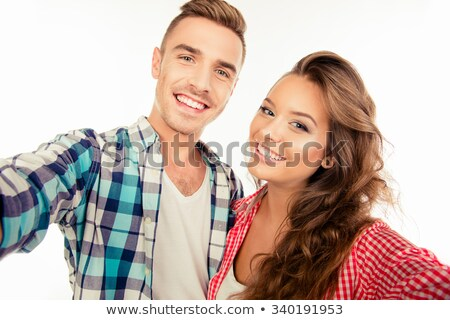 Man and woman posing for a photo Stock photo © IS2