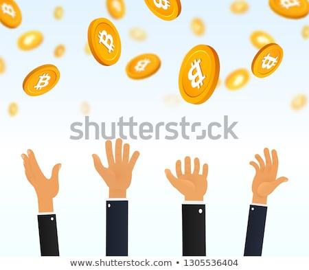 dólar · moeda · de · ouro · isolado · branco · negócio · metal - foto stock © maryvalery