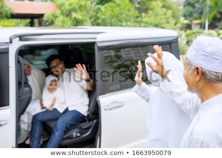 Mulher jovem carro elétrico mulher carro moda Foto stock © IS2
