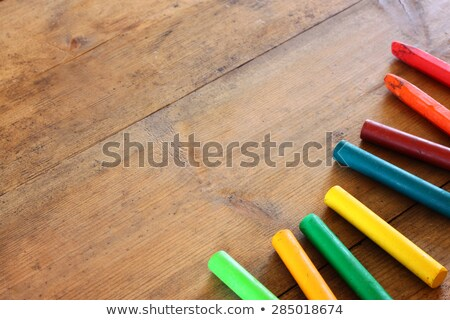 Close up photo colored pastel chalks Stock photo © deandrobot