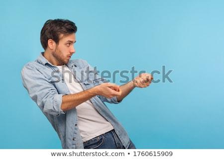 üzletember tart láthatatlan tárgy fehér üzlet Stock fotó © wavebreak_media