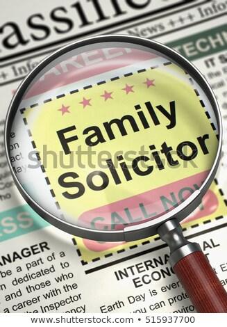 Family Solicitor Job Vacancy. 3D. Stock photo © tashatuvango