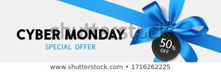Cyber Monday Sale Gift Bow Ribbon Design Stock photo © Krisdog
