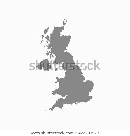 Harita Büyük Britanya arka plan mavi hat vektör Stok fotoğraf © rbiedermann