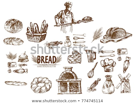 digital vector detailed line art cake and pie stock photo © frimufilms