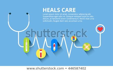 набор медицинской плакатов медицинская помощь вектора Сток-фото © Leo_Edition