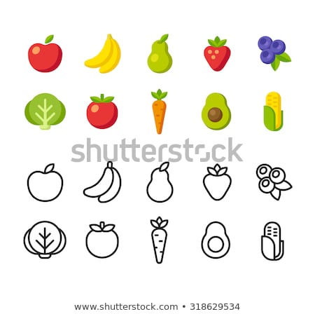 Stockfoto: Vegetable And Fruits Produce Sign