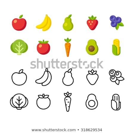 Vegetales frutas producir signo diseno vintage Foto stock © Krisdog