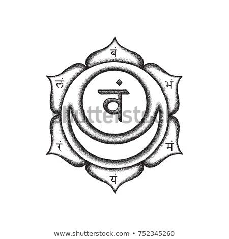 Chakra ilustração vetor segundo semente Foto stock © TRIKONA