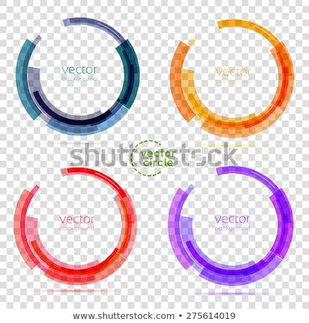 Vector negocios resumen círculo iconos colección Foto stock © blumer1979