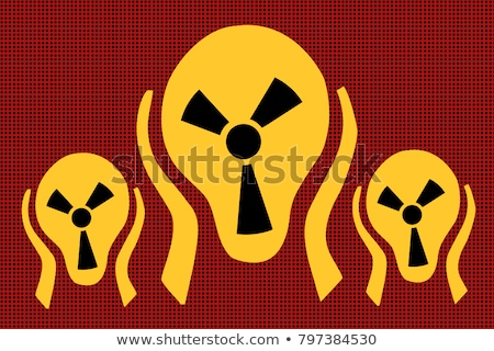 abrigo · vintage · nuclear · símbolo · radioativo · assinar - foto stock © rogistok