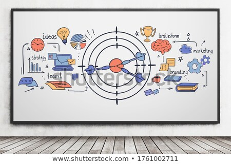 time to development drawn on white wall stock photo © tashatuvango