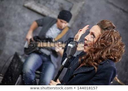 Lead vocalist with guitar Stock photo © IS2