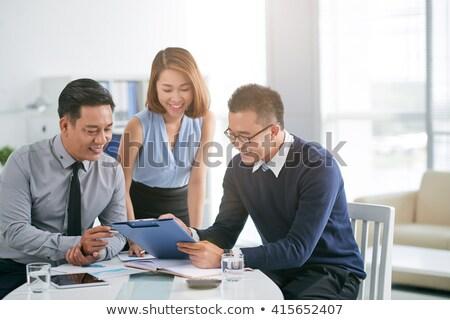 Business meeting asian women in office Stock photo © studioworkstock