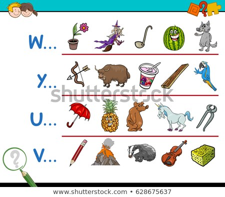English worksheet for words starting with U Stock photo © bluering