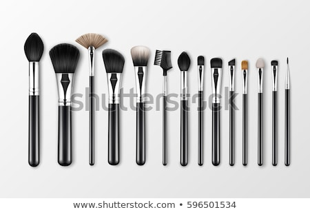 Componen cepillo sombra de ojos belleza rosa cosméticos Foto stock © IS2