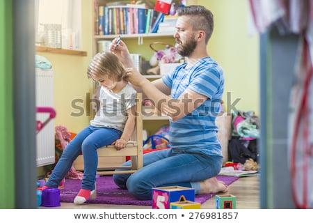 父 · 娘 · 準備 · 家 · カップル · 郡 - ストックフォト © is2